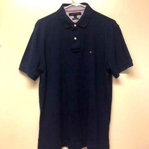 Tommy Hilfiger Mens BLUE Polo Short Sleeve Small L